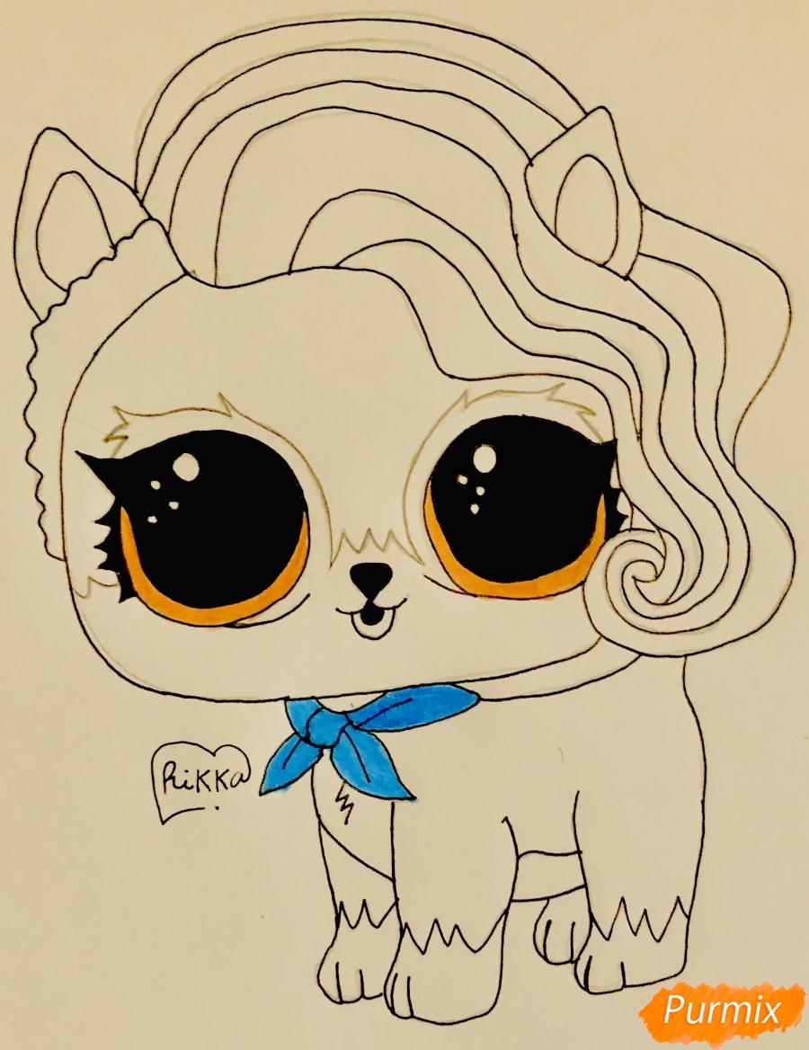 Рисуем волчёнка из мультфильма Lol Pets - фото 7