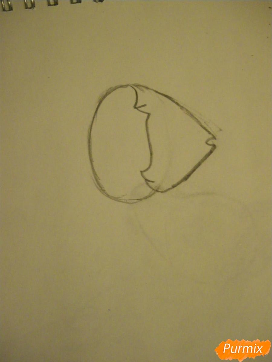 Рисуем Жемчуг из Вселенная Стивена карандашами - шаг 1