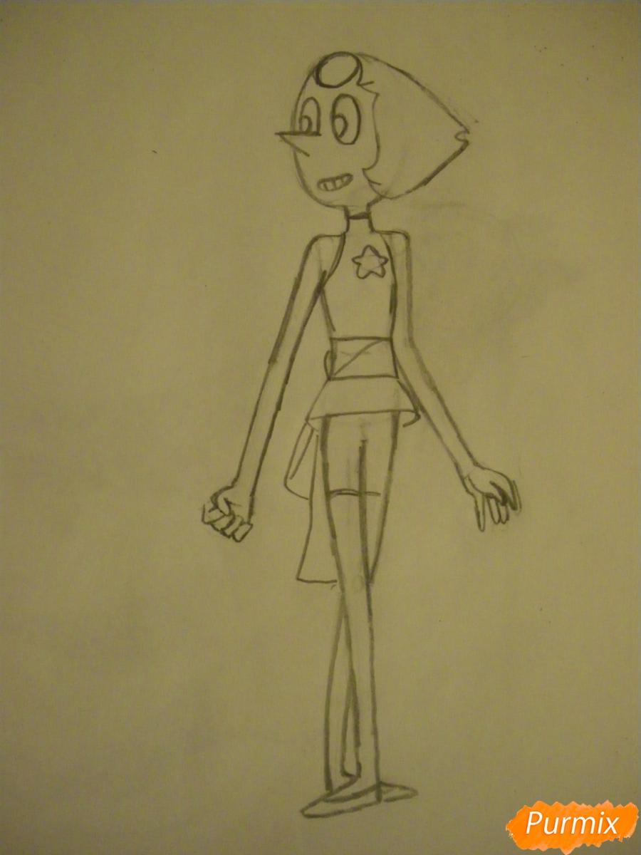 Рисуем Жемчуг из Вселенная Стивена карандашами - шаг 4