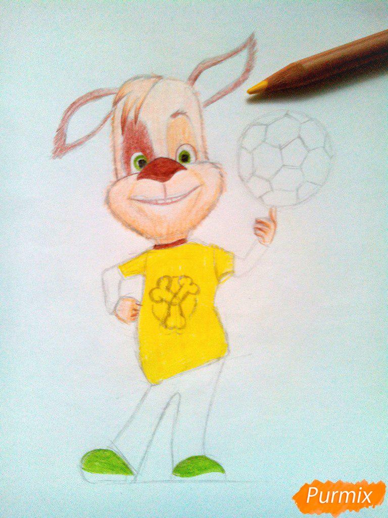 Рисуем Дружка из мультсереала Барбоскины цветными - шаг 11