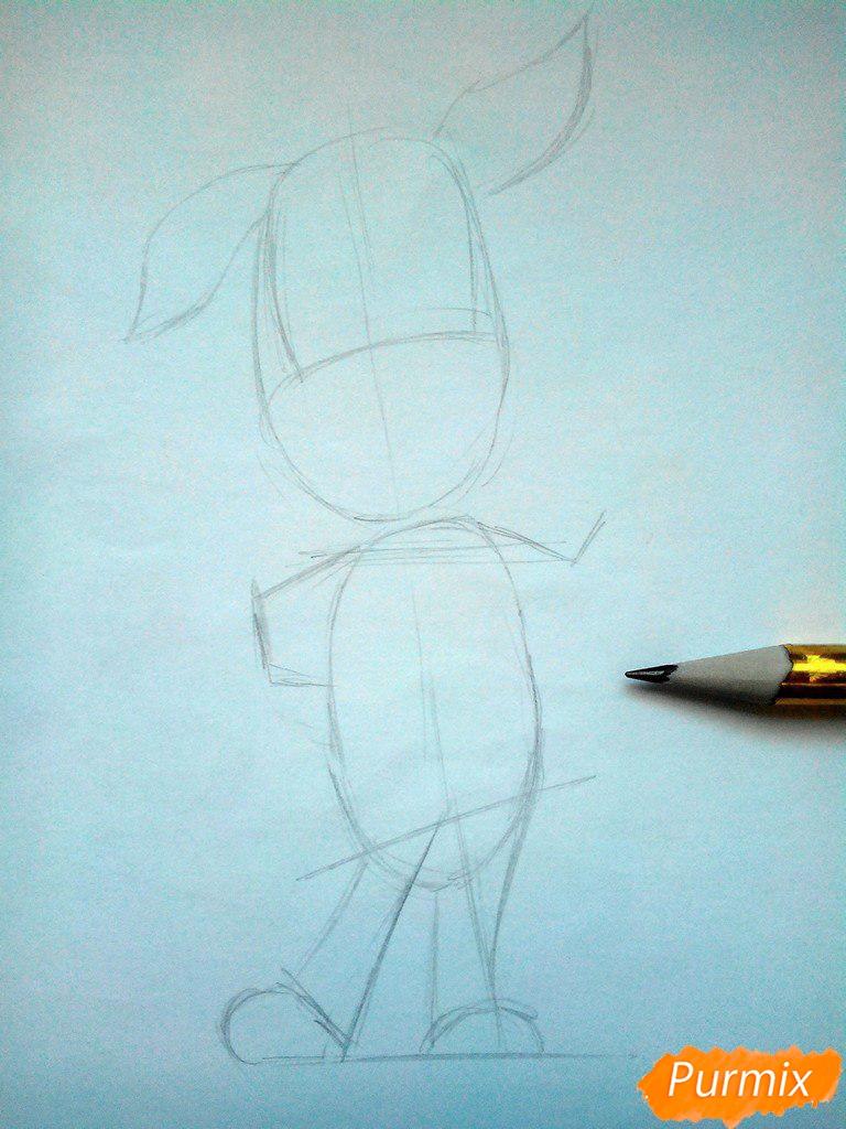 Рисуем Дружка из мультсереала Барбоскины цветными - шаг 2