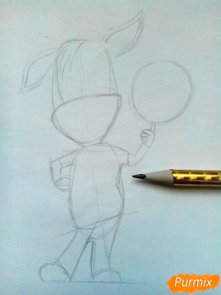 Рисуем Дружка из мультсереала Барбоскины цветными - шаг 3