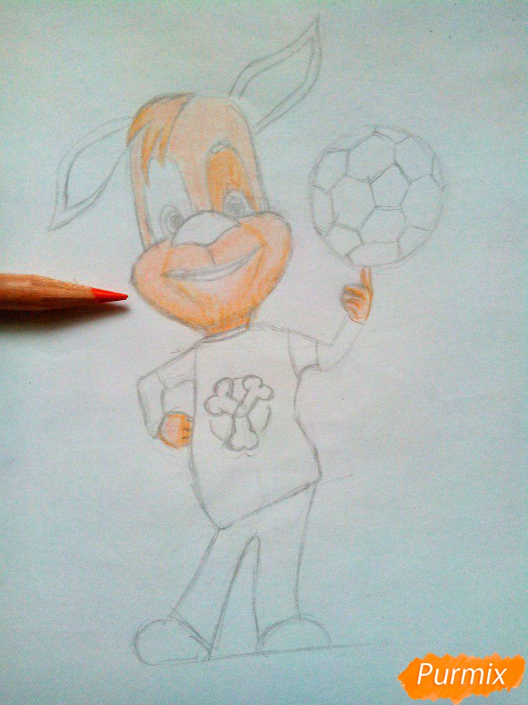 Рисуем Дружка из мультсереала Барбоскины цветными - шаг 8