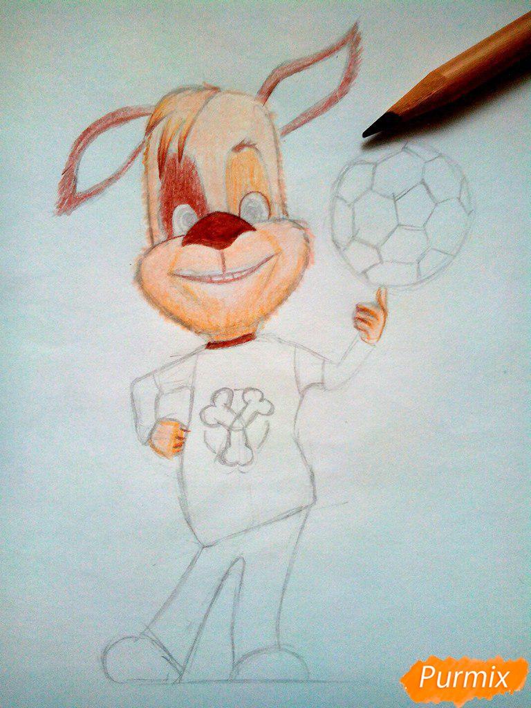 Рисуем Дружка из мультсереала Барбоскины цветными - шаг 9