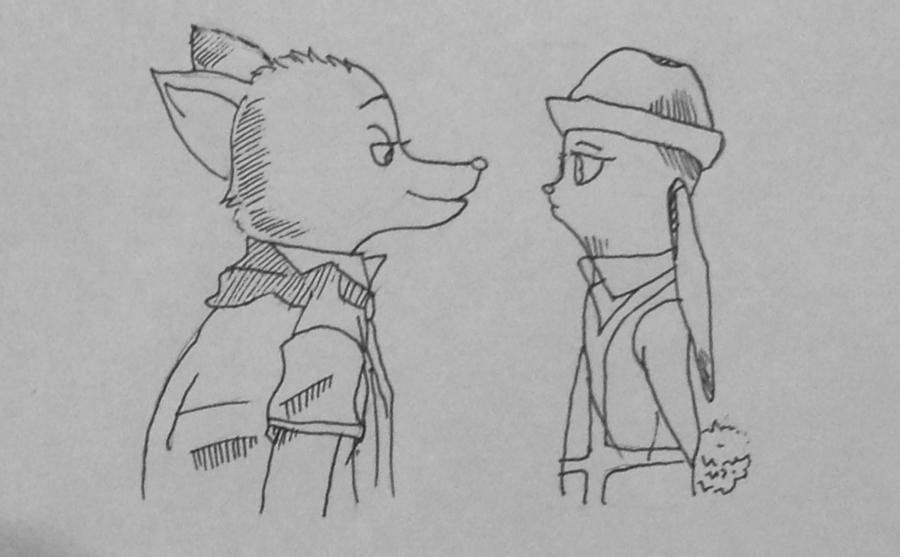 Рисуем и раскрасить Ника и Джуди из Зверополиса - шаг 7
