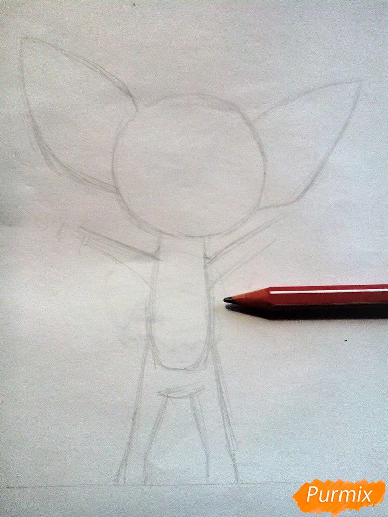 Рисуем Малыша из мультфильма Барбоскины цветными карандашами - шаг 2