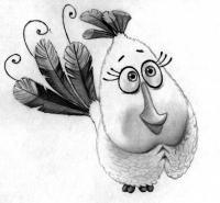 Как нарисовать Матильду из Angry Birds в кино поэтапно