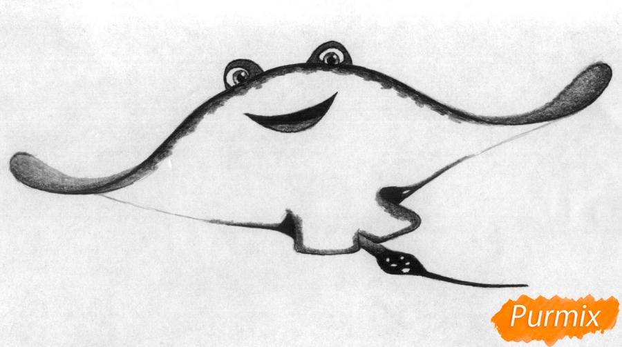 Рисуем Мистера Ската из мультфильма В поисках Дори - шаг 3