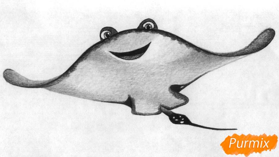 Рисуем Мистера Ската из мультфильма В поисках Дори - шаг 4
