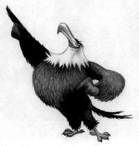 Как нарисовать Могучего Орла из Angry Birds в кино