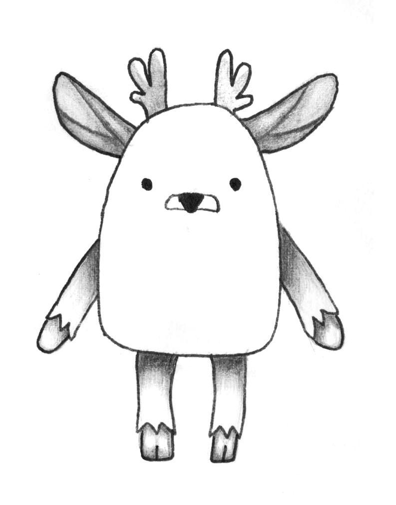 Рисуем мультяшного оленя - шаг 11