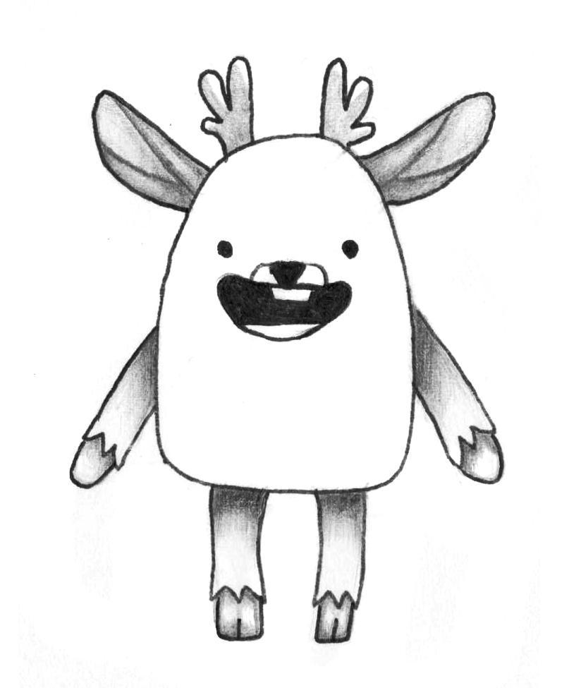 Рисуем мультяшного оленя - шаг 12