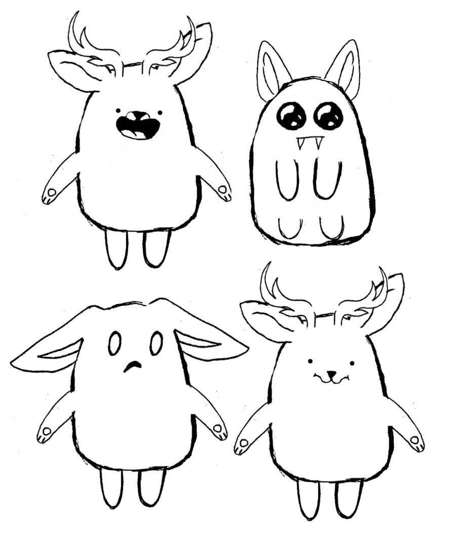 Рисуем мультяшного оленя - шаг 16