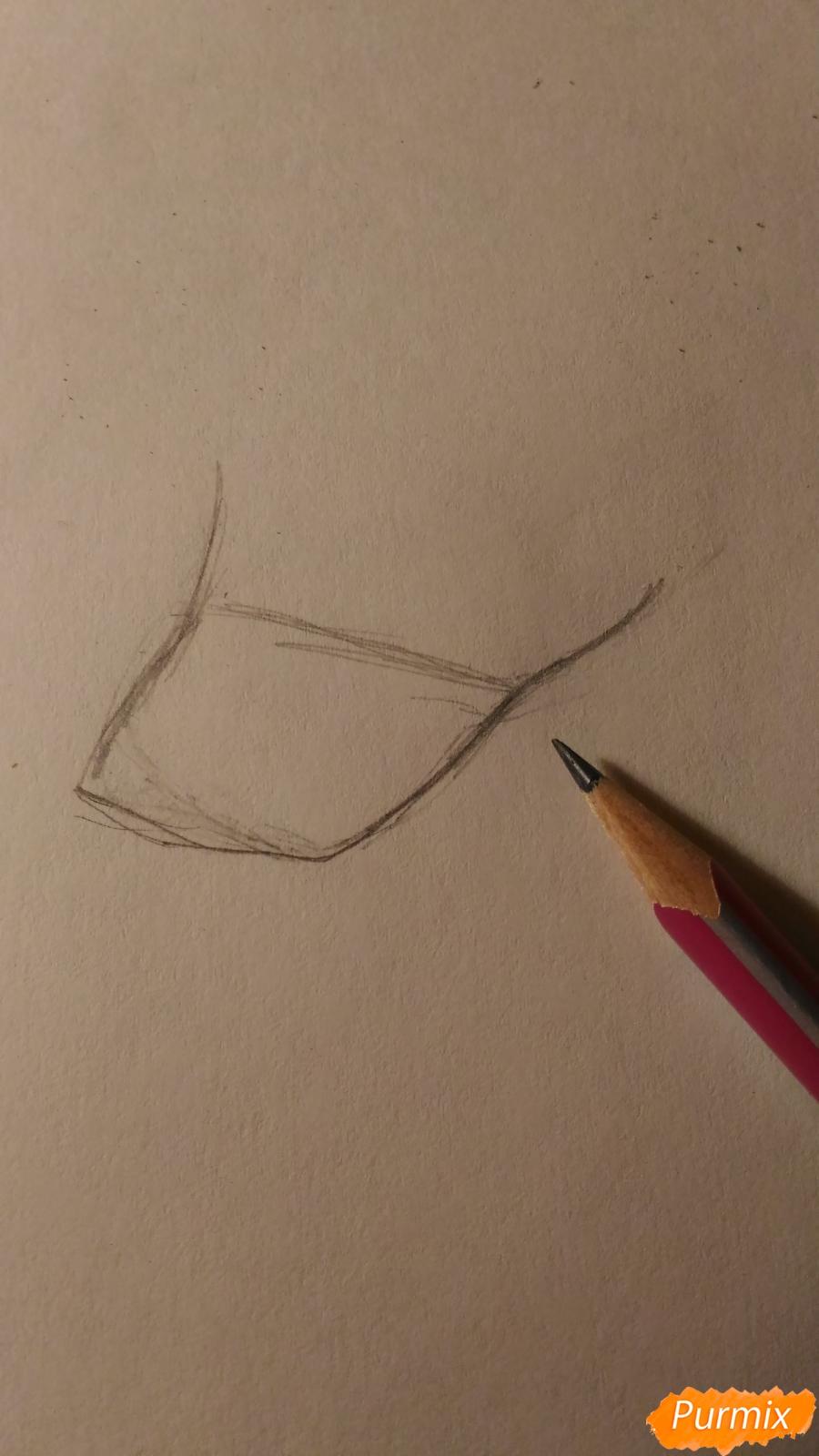 Рисуем пони принцессу Каденс из мультика My Little Pony - шаг 2