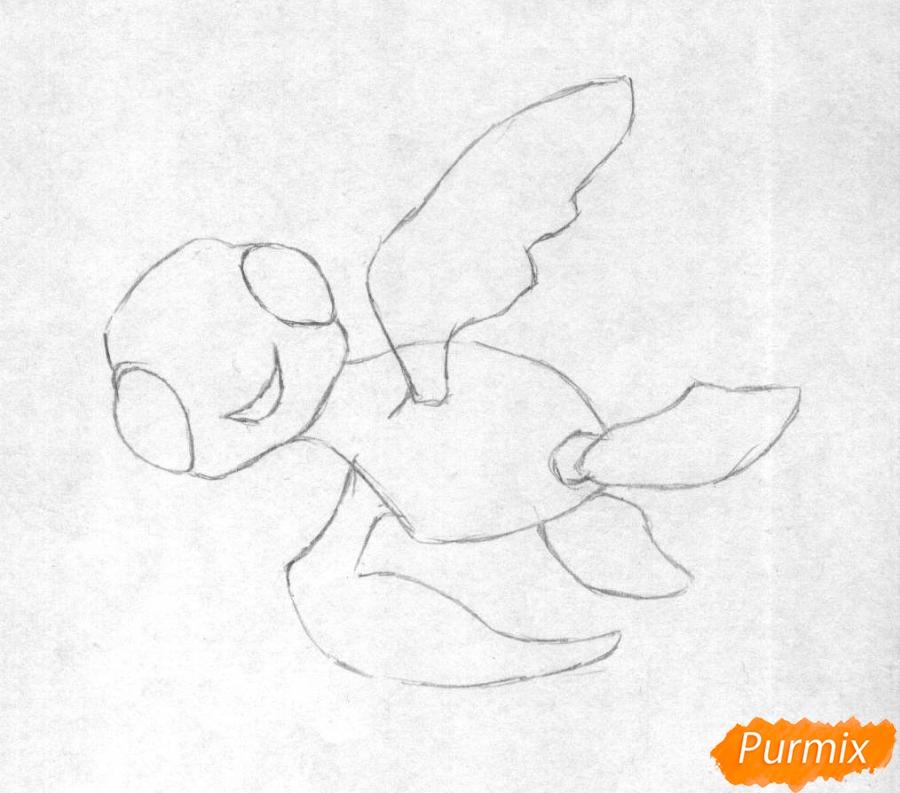 Как нарисовать Прыска из мультфильма В поисках Дори карандашом поэтапно - шаг 1