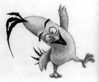 Как нарисвоать Чака из Angry Birds в кино поэтапно