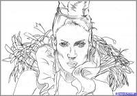 портрет Дженифер Лопес карандашом