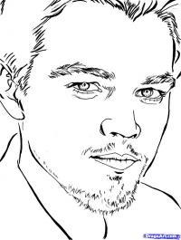 Фото  портрет Леонардо Ди Каприо карандашом