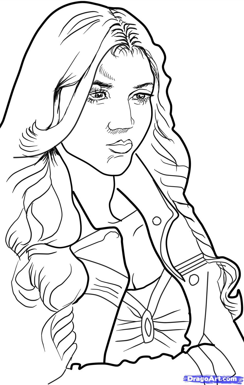 Как нарисовать кэтрин пирс карандашом