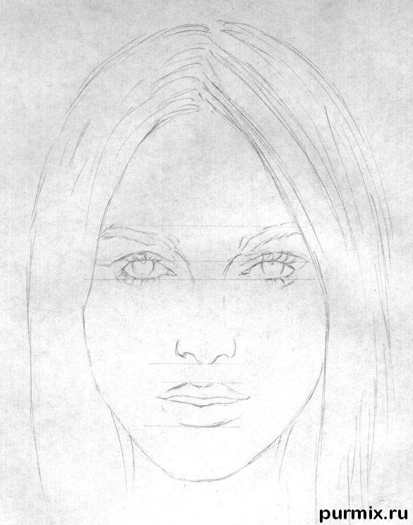 Рисуем нарисовать портрет Киры Найтли на бумаге шаг за шагом