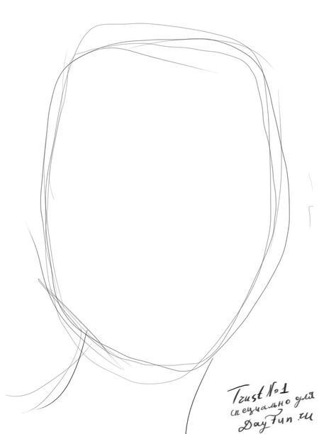 Рисуем портрет Анджелины Джоли - шаг 1