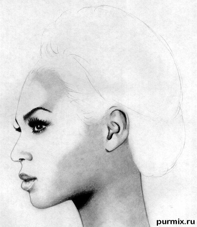 Рисуем портрет Бейонсе простым