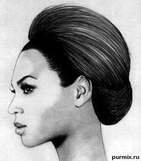 Фото портрет Бейонсе простым карандашом