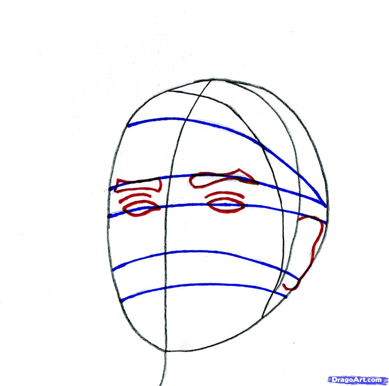 Рисуем портрет Бруно Марс - шаг 5