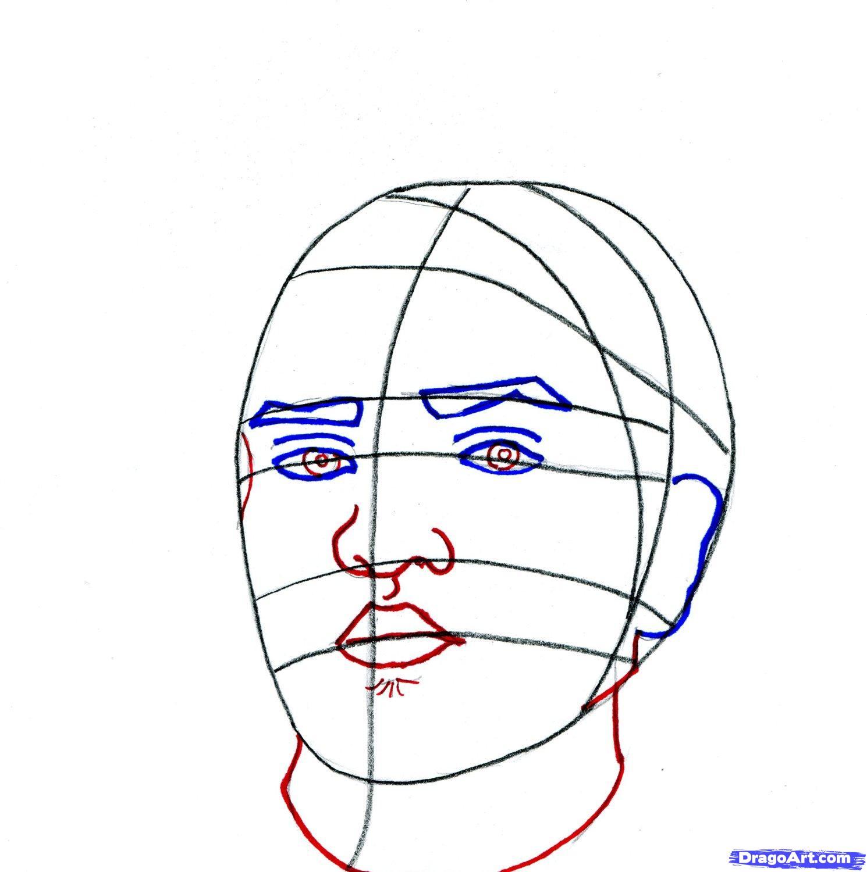 Рисуем портрет Бруно Марс - шаг 6