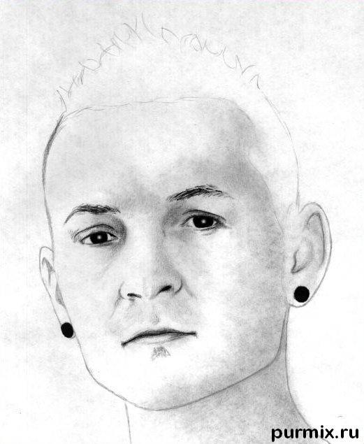 Рисуем портрет Честера Беннингтона простым