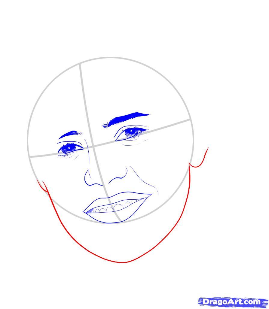 Рисуем портрет Джастина Бибера