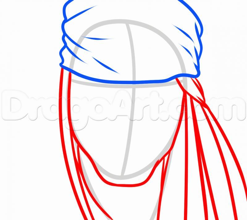 Капитан джек воробей рисунок карандашом поэтапно 4