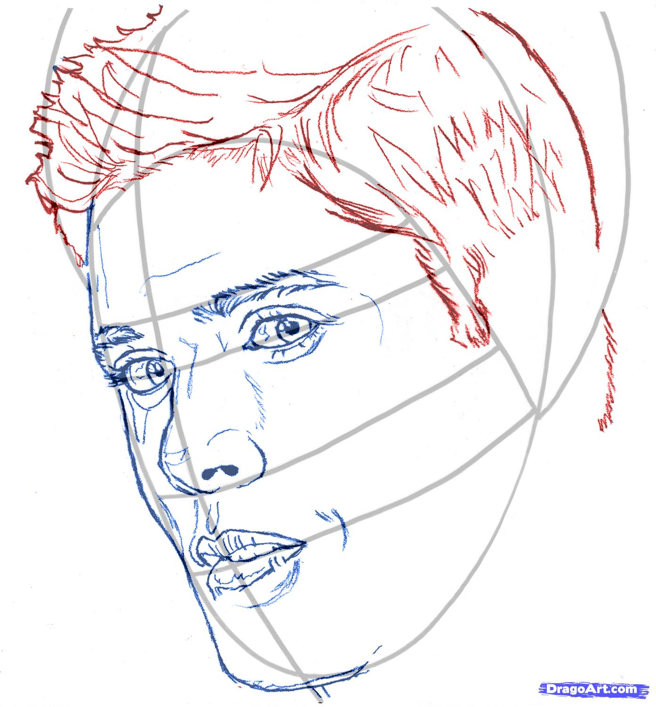 Как нарисовать портрет дженсена эклза