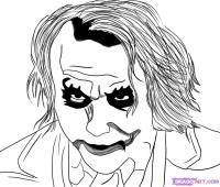 Фото Портрет Джокера из «Темного рыцаря» карандашом
