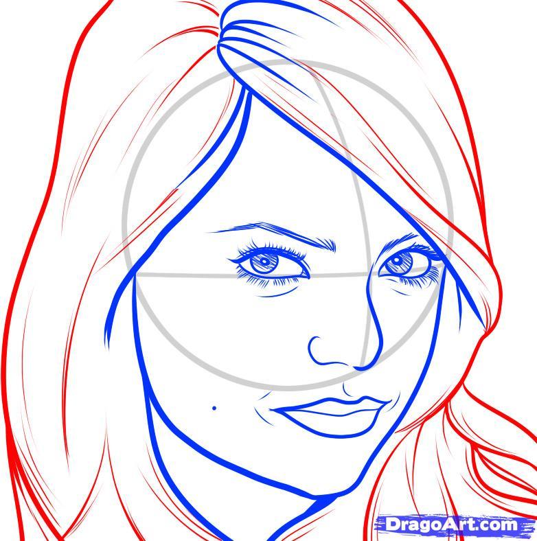 Рисуем портрет Эммы Стоун