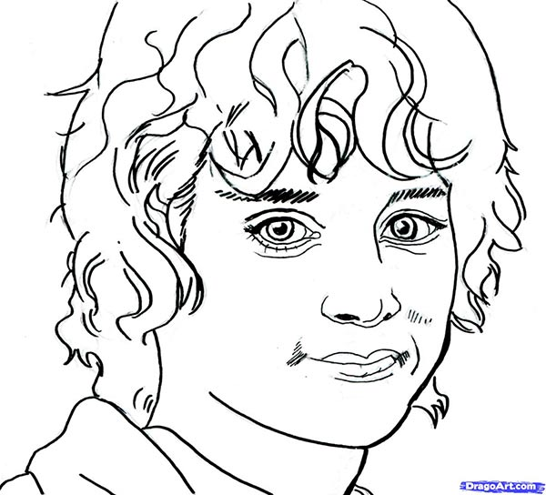 Рисуем портрет Фродо из Властелин Колец
