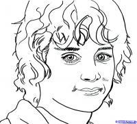 Фото портрет Фродо из Властелин Колец карандашом