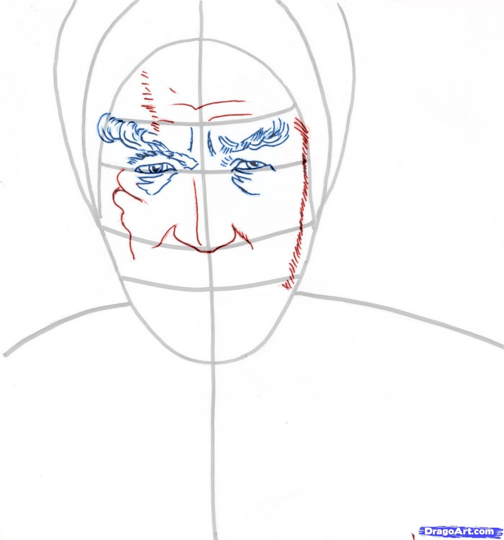 Рисуем  портрет Гэндальфа из Властелин Колец