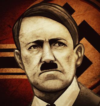Рисуем портрет Гитлера