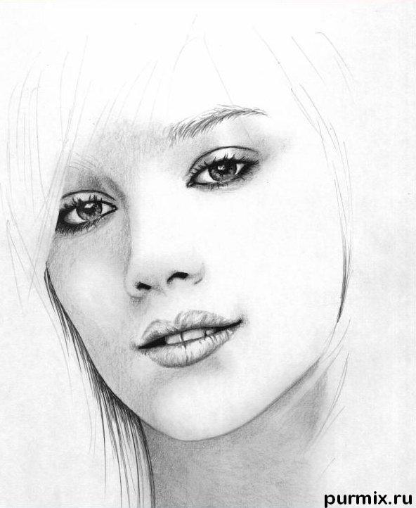 Рисуем портрет Хилари Дафф - шаг 4