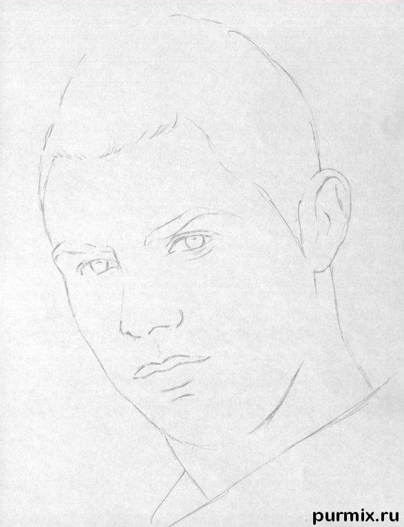 ... Криштиану Роналду простым карандашом: purmix.ru/urok/kak_narisovat_portret_krishtianu_ronaldu_prostym...