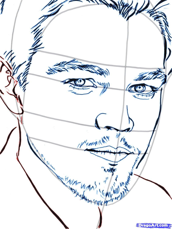 Рисуем портрет Леонардо Ди Каприо   для начинающих - шаг 9