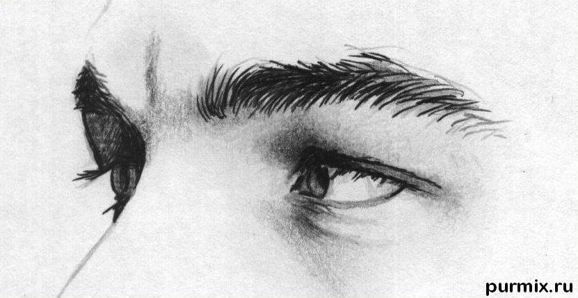 Рисуем портрет Леонардо ДиКаприо - шаг 3