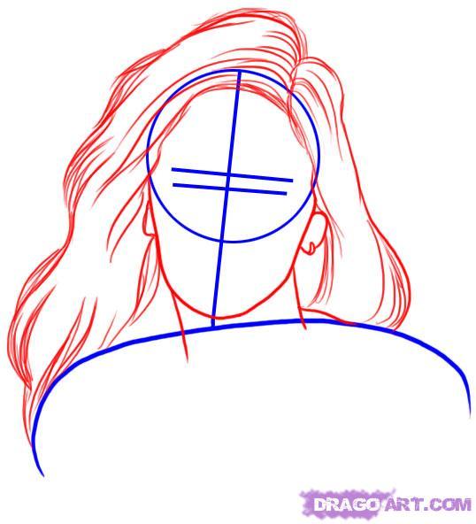Рисуем портрет Меган Фокс - шаг 2