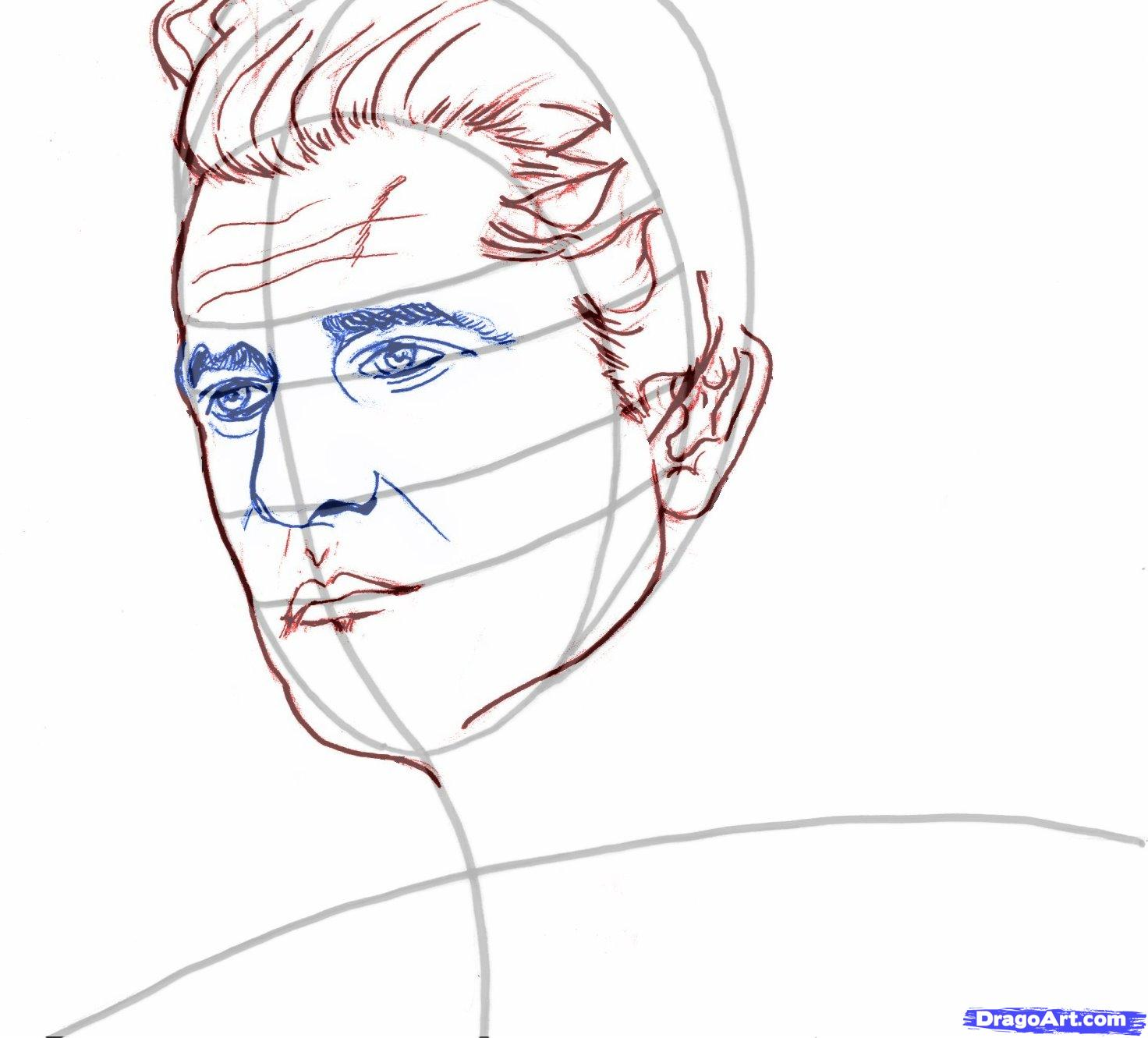Рисуем портрет Мела Гибсона