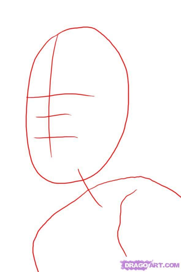 Рисуем портрет Мэрилин Монро - шаг 1