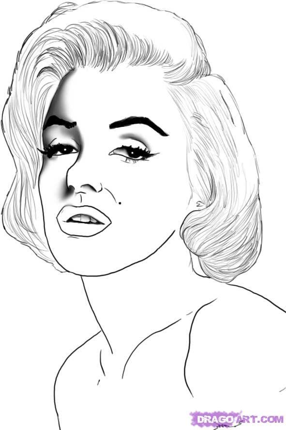 Как нарисовать портрет Мэрилин Монро карандашом поэтапно
