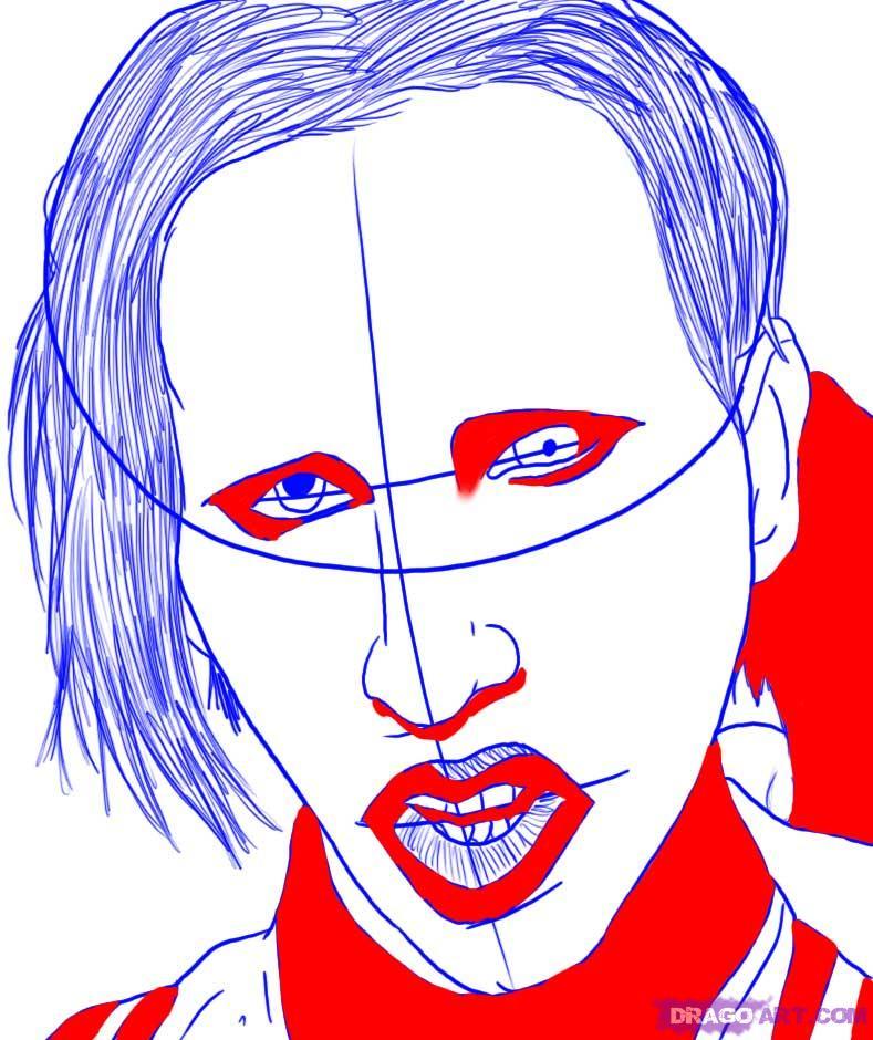 Рисуем портрет Мэрилина Мэнсона