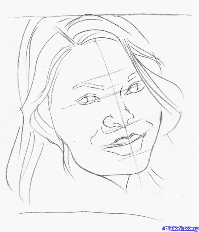 Рисуем портрет Миранды Тэйлор Косгроув