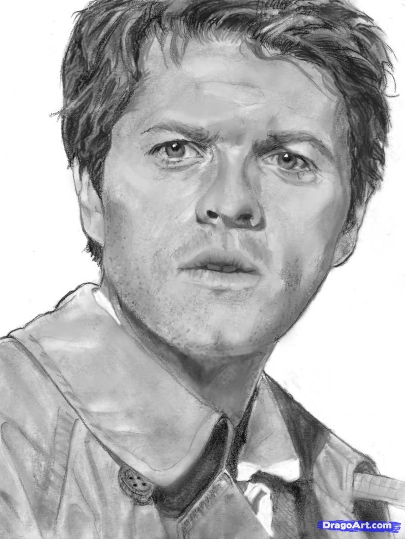 Рисуем портрет Миши Коллинза